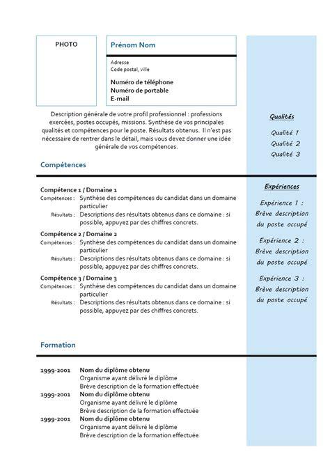 model cv 110 mod 232 les de cv originaux lettre de motivation