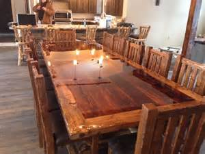 custom built dining room tables hand made custom built reclaimed barn wood dinning room