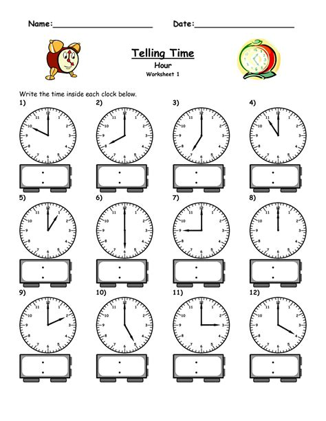 clock worksheets on the hour free elapsed time worksheets activity shelter