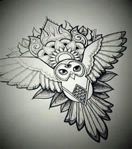 mandala owl by gummybearbubble89 on deviantart