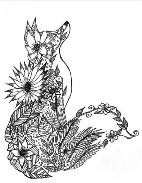 coloring pages for adults fox fox coloring page printables
