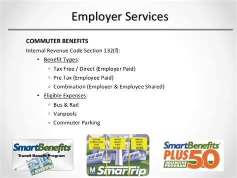 irc section 132 transportation services group employer services in
