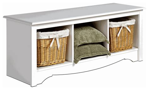 sears storage bench monterey cubbie bench white traditional accent and