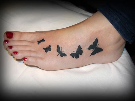 butterfly foot tattoo 25 butterfly foot design ideas for