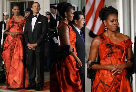 ms obama hair look of the day michelle obama in alexander mcqueen