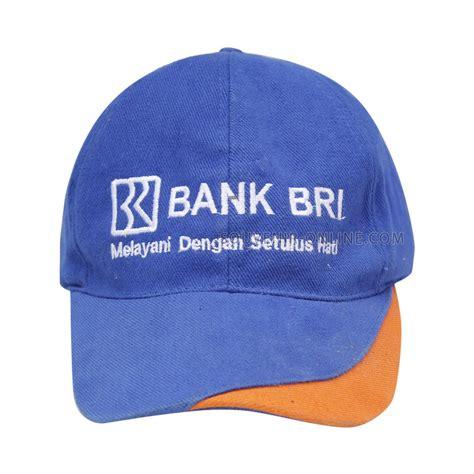 Topi Bordir topi raphel biru bordir logo bri