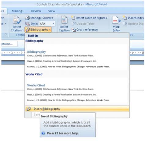 langkah langkah membuat daftar pustaka di microsoft word membuat daftar pustaka otomatis menggunakan microsoft word