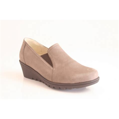 high cut shoes for waldlaufer high cut wedge shoe in taupe nubuck leather