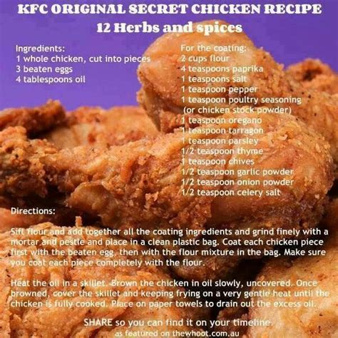 mock kentucky fried chicken recipes pinterest
