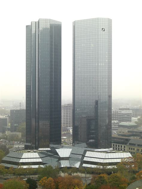 deutsche bank tower skyscrapers in frankfurt am