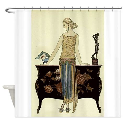 shower curtains for women vintage 1920s woman shower curtain by vintageposter