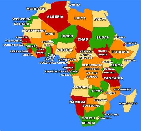 africa map 2017 map of africa 2017 pictures to pin on pinsdaddy