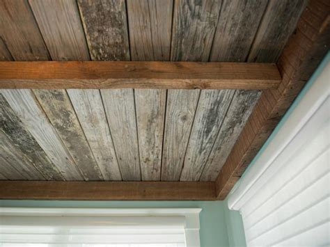 Distressed Wood Ceiling by Sunroom Pictures From Cabin 2013 Sunroom And Ceilings