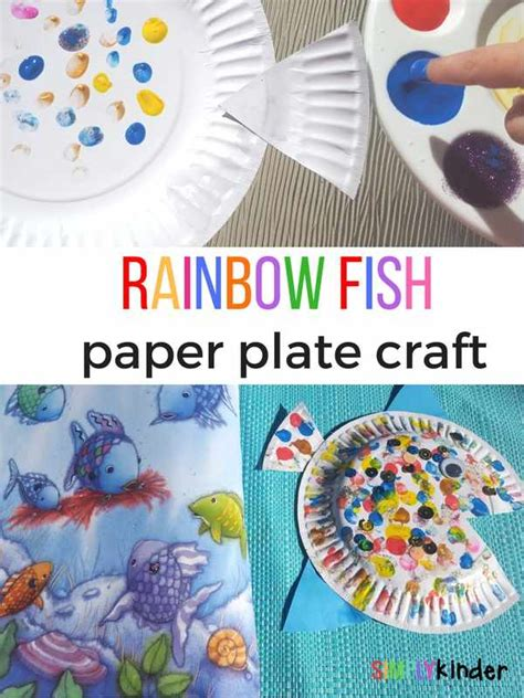 Fish Paper Plate Craft - rainbow fish paper plate craft simply kinder