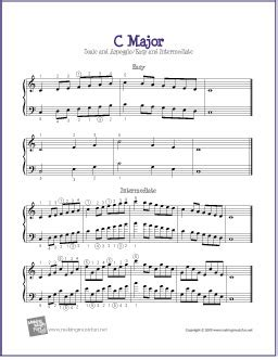 That Old Rugged Cross Lyrics C Major Scale And Arpeggio Free Easy Piano Sheet Music