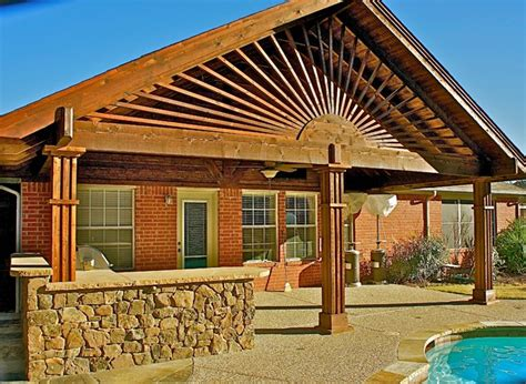 Patio Design Dallas Cedar Patio Cover Traditional Patio Dallas By