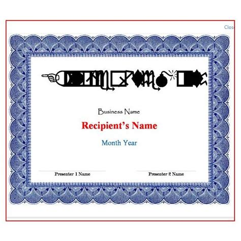 free certificate templates for word 2007 word certificate