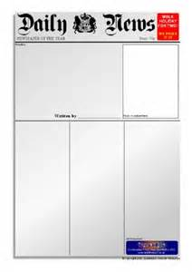 Writing Newspaper Reports Ks2 Template by Newspaper Writing Frames And Printable Page Borders Ks1 Ks2 Sparklebox
