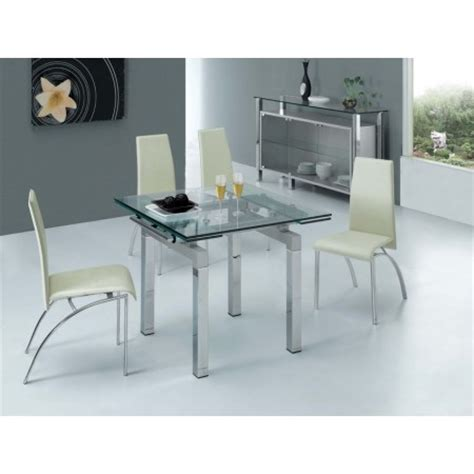 extending glass dining table mini 4 d211 chairs set