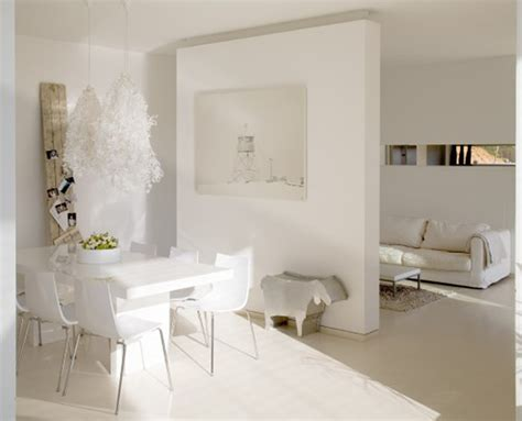Modern White Home Decor modern white interior decorating ideas minimalist house decobizz