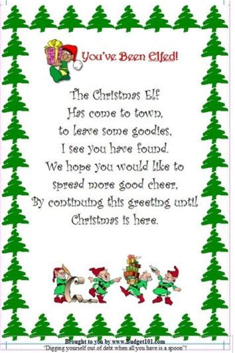 budget101 com christmas elf flyer homemade novelty