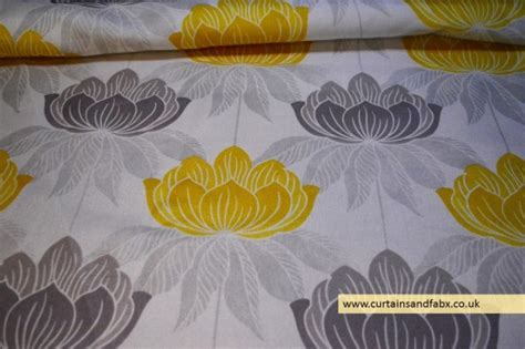 Yellow Upholstery Fabric Uk by Roma Yellow Floral Curtain Fabric Cotton