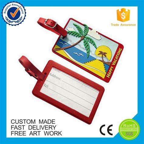 wholesale custom printting soft pvc luggage tags buy