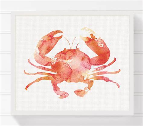 crab decorations for home crab art print nautical home decor beach art print nursery