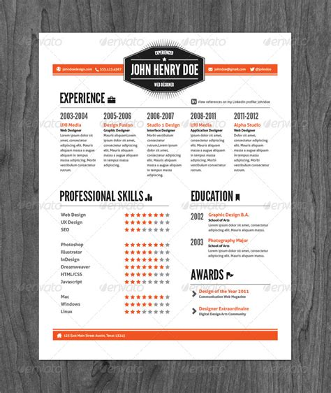 3 vintage style resume pack by graphicmonkee graphicriver