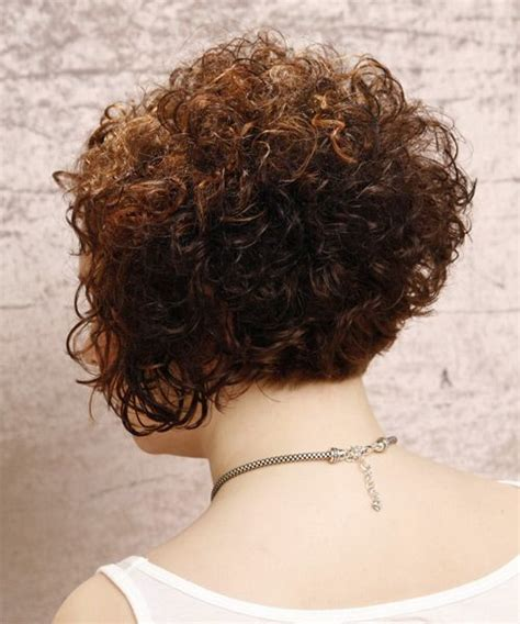 hair stacked straight front curly back short curly hairstyles back view google search cute