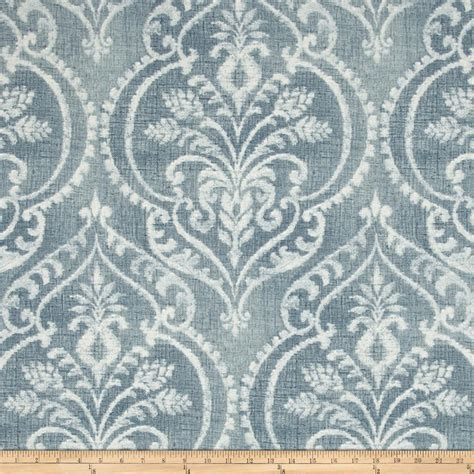 designer fabrics swavelle mill creek dalusio damask chambray discount