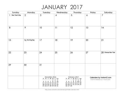 printable calendar 2017 vertex42 download a free printable ink saver 2017 calendar from