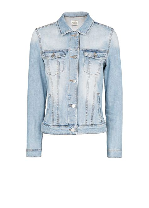 light blue denim jacket mango light wash denim jacket in blue pastel blue lyst