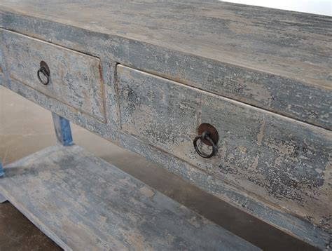 reclaimed wood console table with drawers reclaimed wood painted console table with drawers