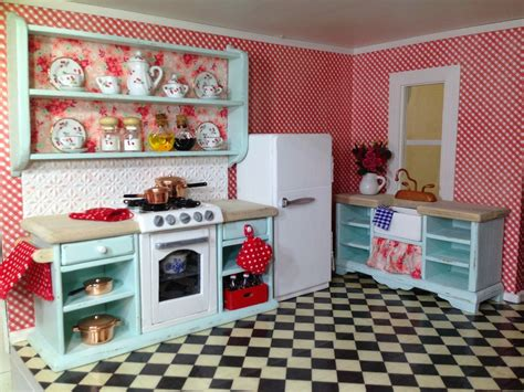 dolls house kitchen furniture once upon a doll collection shabby chic kitchen
