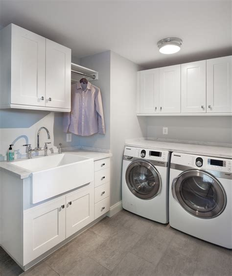 laundry room with sink laundry sink cabinet laundry room transitional with apron