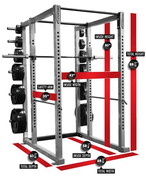 heavy duty power cage legend fitness 3133