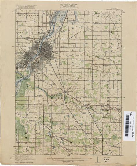 map of saginaw mi historical topographic maps perry casta 241 eda map