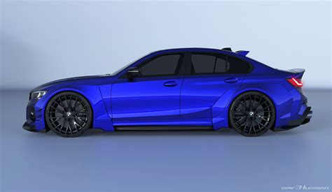 bmw  series rendered  race car concept kit