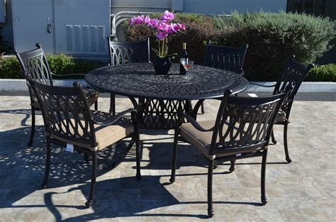 grand tuscany 7 piece dining set 6 dining chairs 1 round