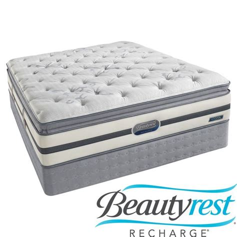 King Size Pillow Top Mattress Set beautyrest recharge maddyn plush pillow top king size mattress set
