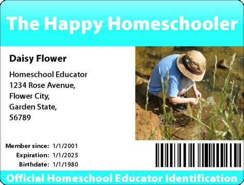 homeschool id card template where to create a homeschool id card