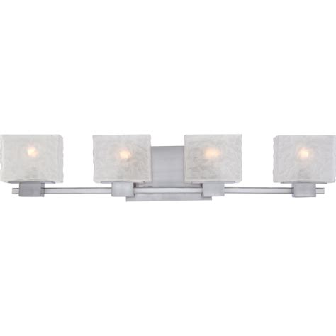bathroom 4 light vanity fixture quoizel mld8604bn melody contemporary brushed nickel