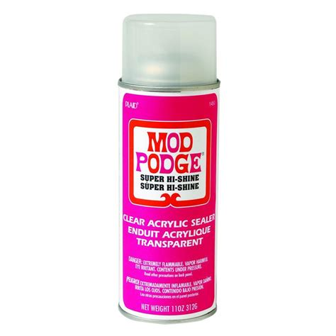 Spray Decoupage - mod podge 11 oz high shine spray 1450 the home depot