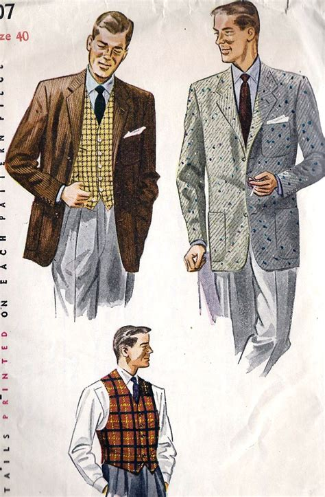 drawings of 1950 boy s hairstyles 1950s mens jacket and vest lord of underworld