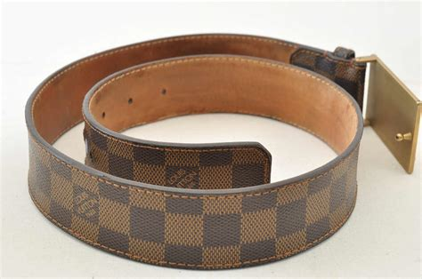 authentic louis vuitton damier inventeur belt brown s4352