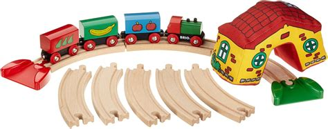 brio train track set brio my first railway set 33700 wooden baby toddler train