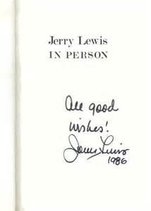 signature jerry lewis kruegerbooks