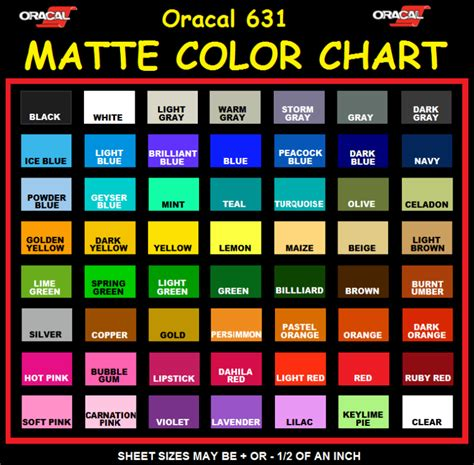 oracal vinyl color chart oracal vinyl 651 color chart quotes