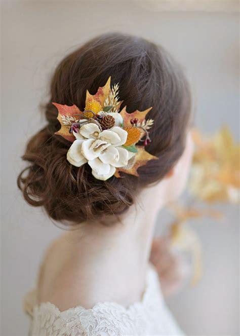 autumn wedding rustic bridal hairpiece 2228740 weddbook
